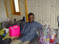 "Joseph with his basket of Easter ""goodies"""