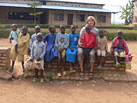 Gabi Schembecker with children from Kivumu.