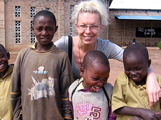 Ivančica borić with african kids