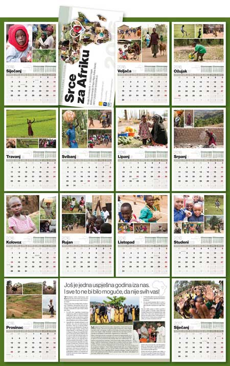 Zidni kalendar Kivumu 2016