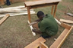 Practical work for carpenters, new desks and chairs for the primary schoolchildren