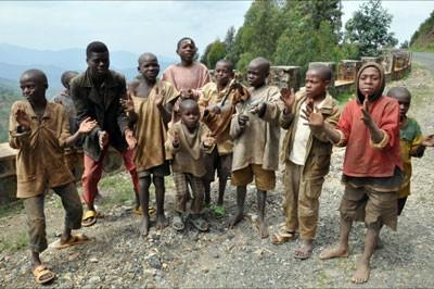 Children from the village
